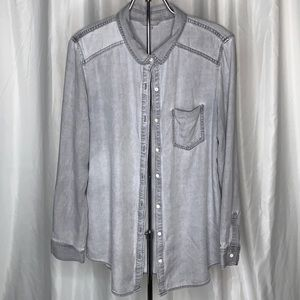 Rubbish Chambray Button Down Blouse